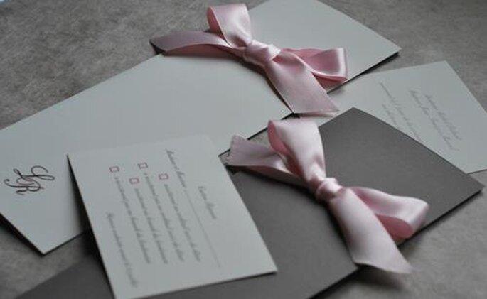 Faire-part de mariage Mlle A pour l'Art du Papier - Crédit photo : Jeanne C