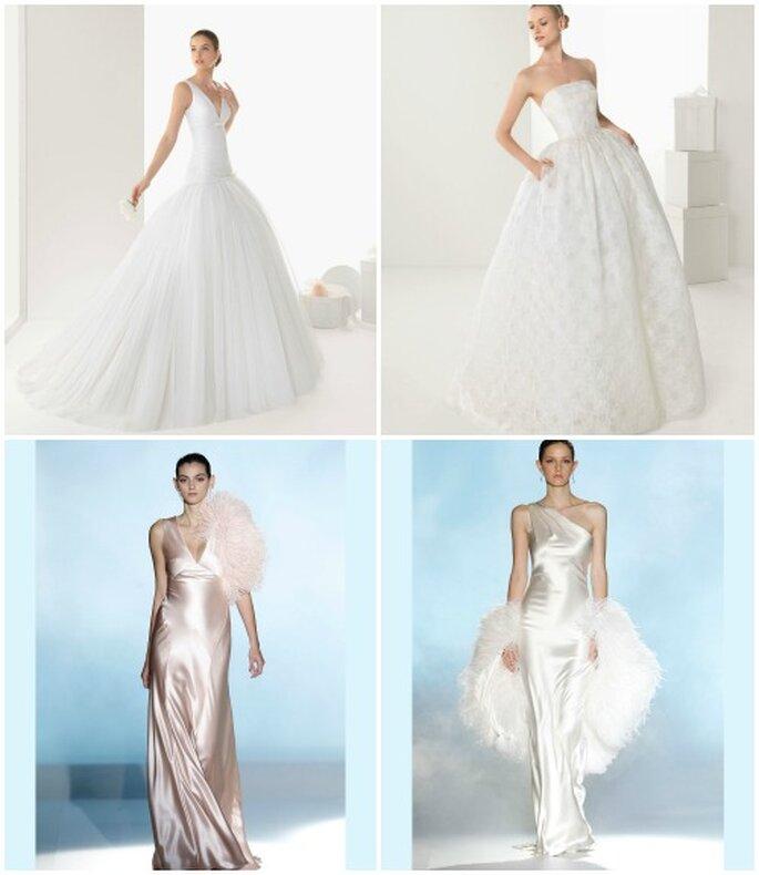 Che sia pizzo,chiffon o satin la Collezione 2013 di Rosa Clarà è perfetta per la sposa sofisticata e di classe! Foto www.rosaclara.es