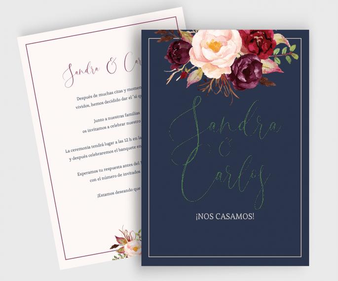 Marsala | Invitación de boda