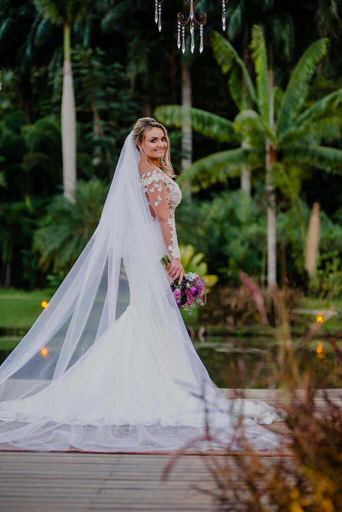 Vestido de casamento modelo sereia