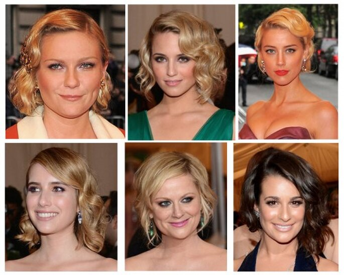 Kirsten Dunst, Dianna Agron, Amber Heard, Emma Roberts, Amy Poehler y Lea Michele en la MET Gala 2012 - Foto Getty