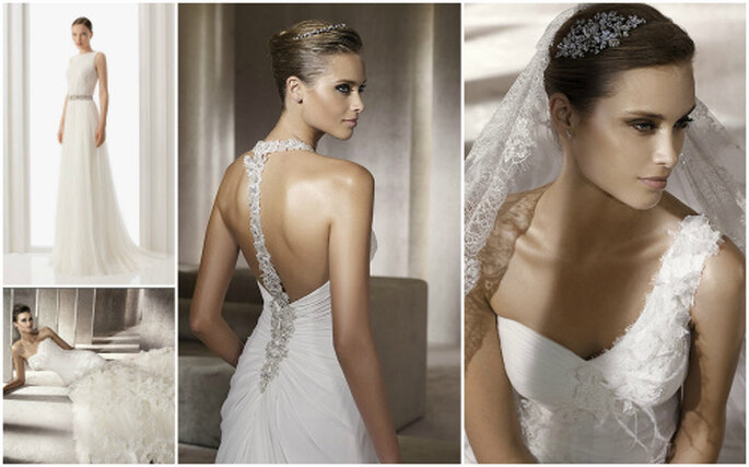 Vestidos de novia para 2012, todas las tendencias. Fotos: Pronovias y Rosa Clará
