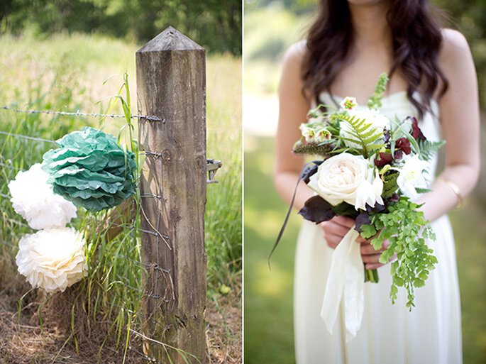 Paper decorations for your wedding - Photo: Caught the Light