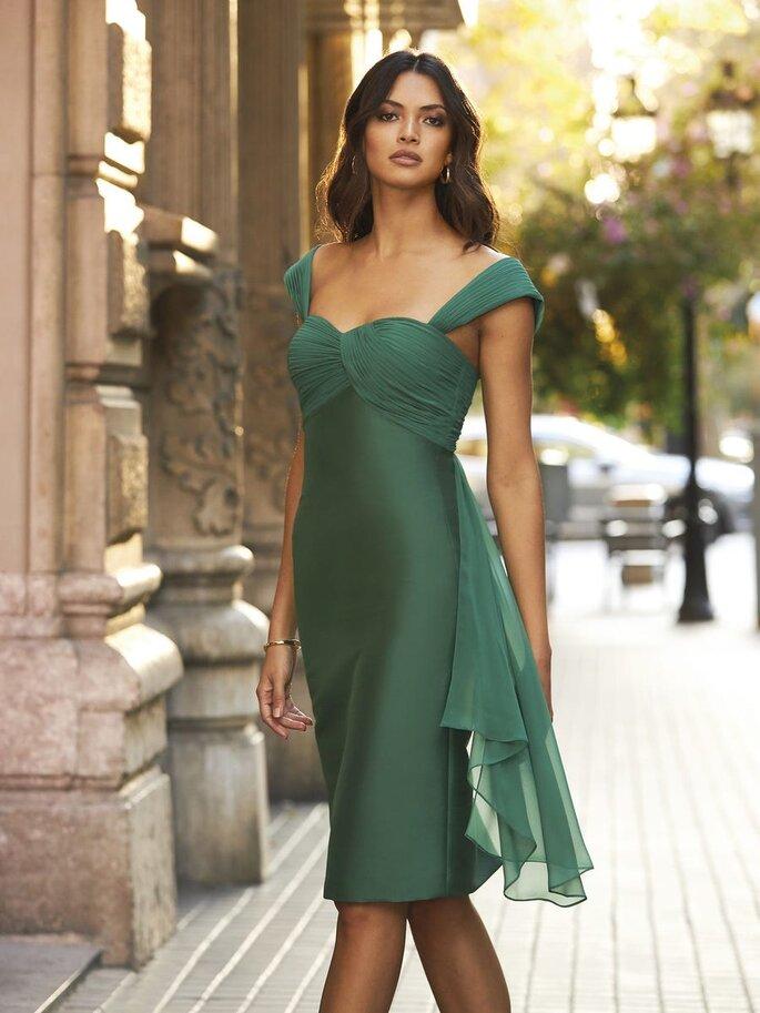 vestido verde de fiesta corto