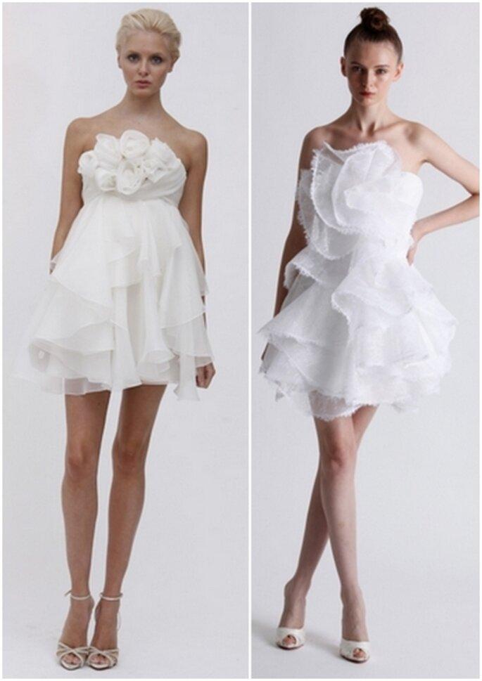 Vestido corto de novia 2011 para una boda sencilla By Marchesa