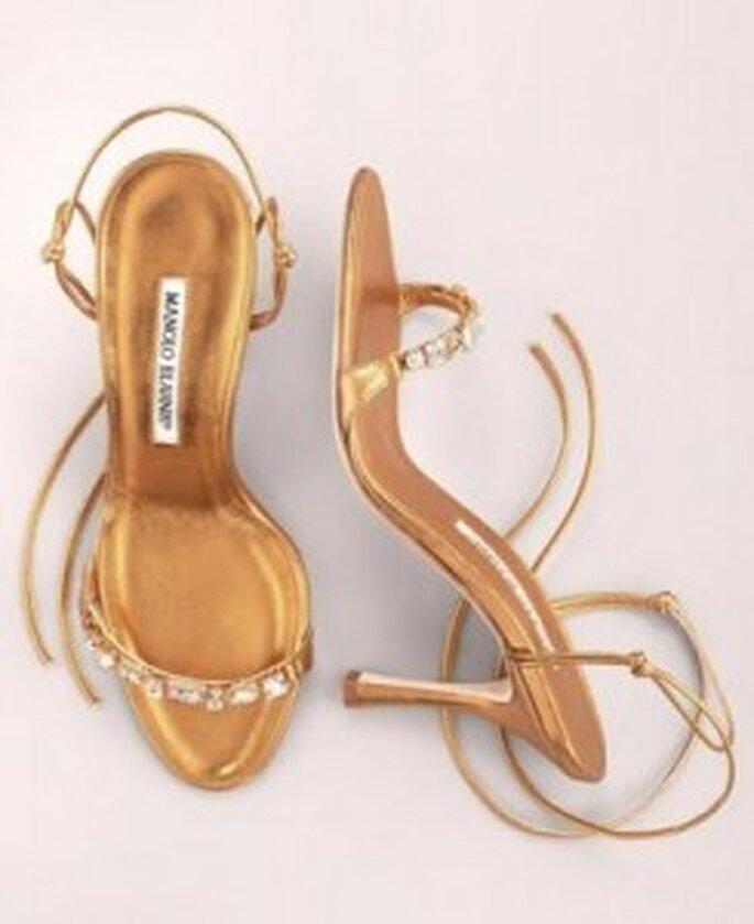Sandales aux tons sable et doré