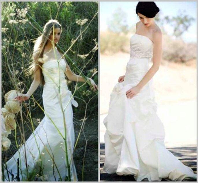 La novia puede llevar el vestido de novia de su madre o de su abuela