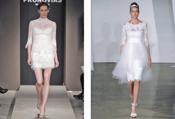 Vestidos de novia cortos para 2014 - Foto Pronovias y Marchesa
