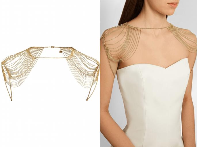 Accesorios en color dorado para una invitada fashionista - Rosantica en Net a Porter1