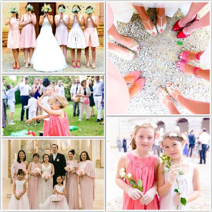 Bridesmaids & Children, Pink Style