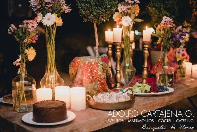 Banquetes & flores Delivery banquetería matrimonio Ñuñoa