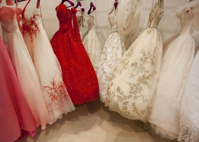 ... scegli un abito da sposa colorato! Foto www.donna.tuttogratis.it