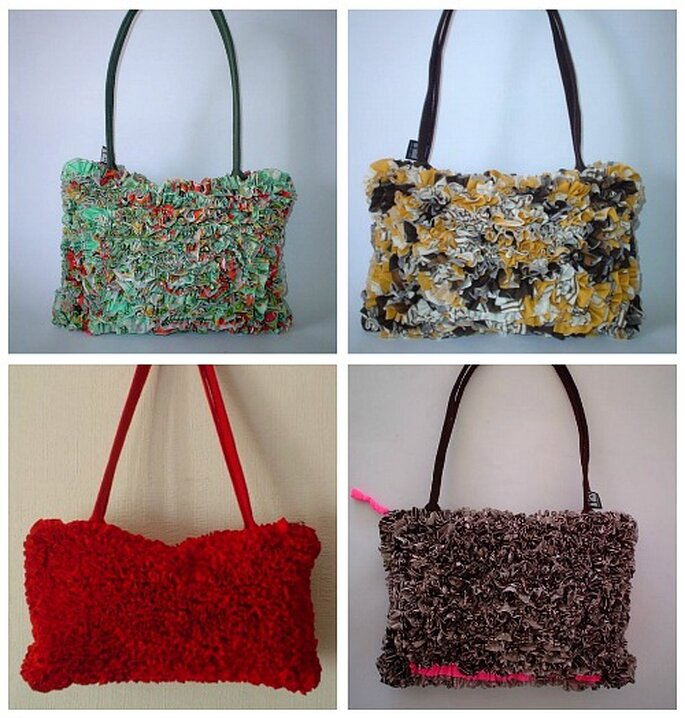 modernas: carteras coloridas de material reciclado. Foto: Reciclart