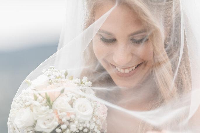 Hochzeitsfoto. Nahaufnahme Braut