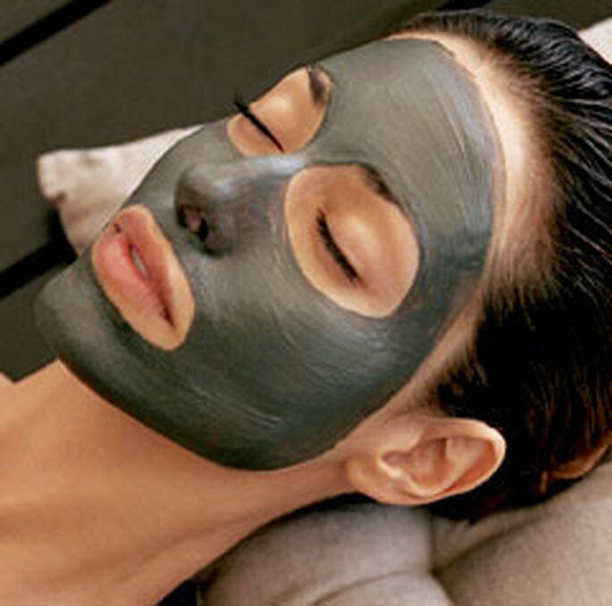 Nothing like a mask to beautify her face!