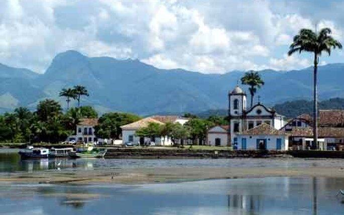 Vista del centro historico de Paraty