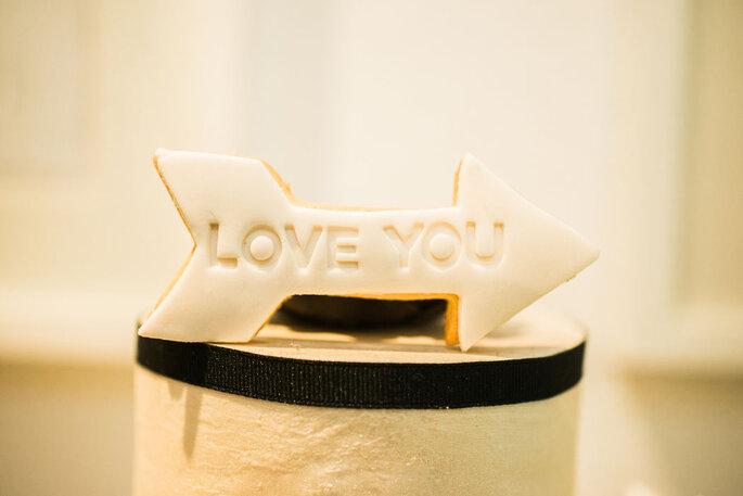Cook & Cookies Hochzeitskekse mit I love you-Schriftzug