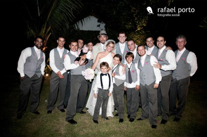A uniformidade dos padrinhos. Foto: Rafael Porto