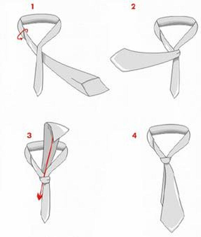 Важно. Завязывая галстук таким