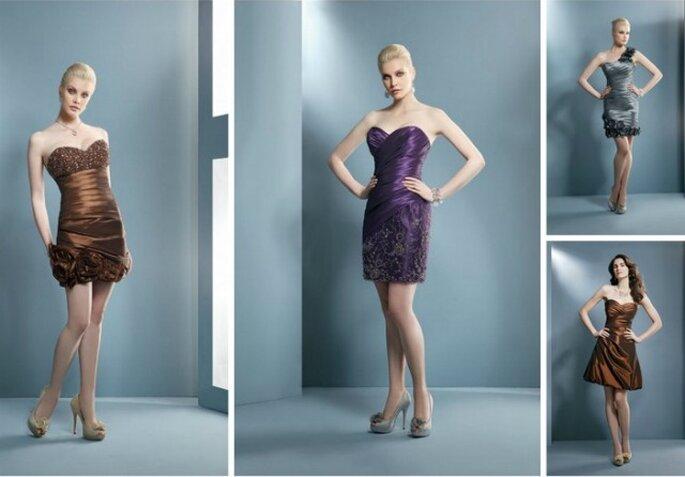 Alcuni modelli corti della Collezione Evening 2012 di Demetrios per le invitate.