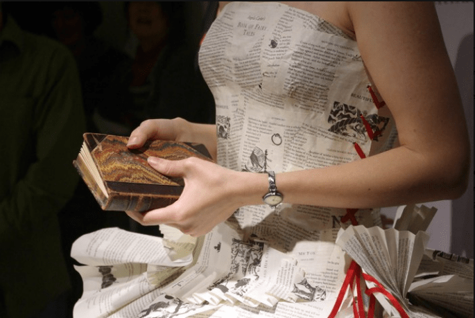Dresses Made Out of Book Pages