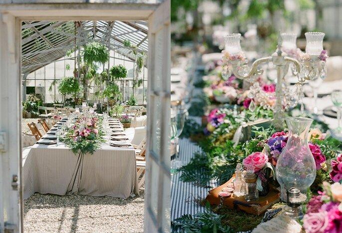 boda invernadero romántico
