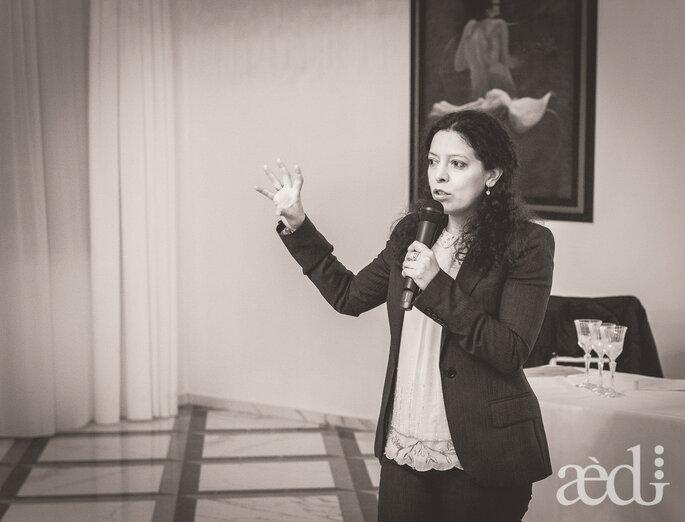 L'interessantissimo intervento di Adriana Velazquez, HR & Mktg Senior Consultant dell'Istituto Italiano Design di Perugia- Foto by AEDI Studio