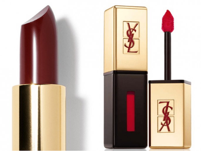 And glamorous, these lipsticks wedding - Photo Bobbi Brown and YSL