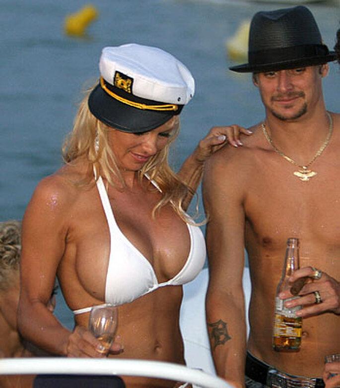Pamela Anderson con su entonces marido Kid Rock