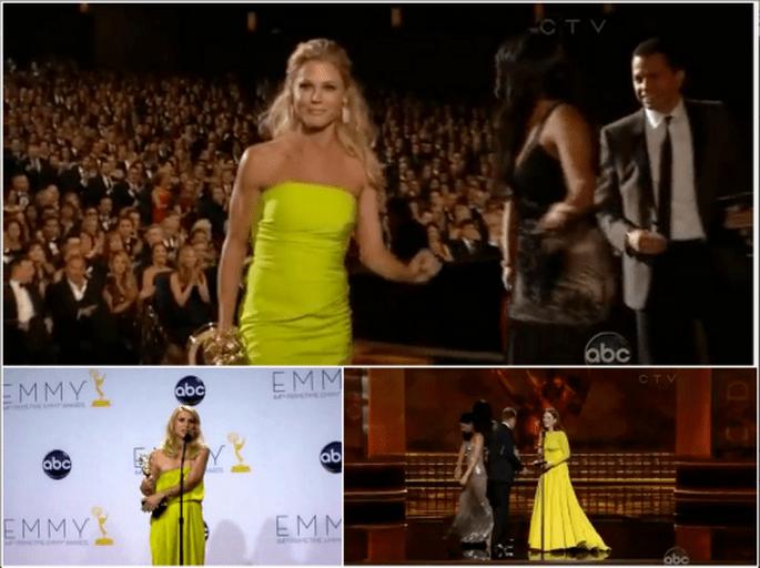 Amarillo limón el color del momento. Imágenes Youtube Emmy 2012