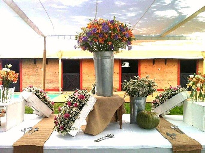 Decoracion Bodas Campestres ~ Decoraci?n r?stica para matrimonios al aire libre Foto Flores
