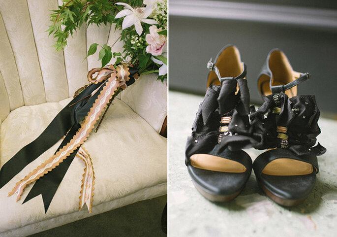 Acessórios trendy com estilo boémio para a noiva - Foto Brooke Schwab