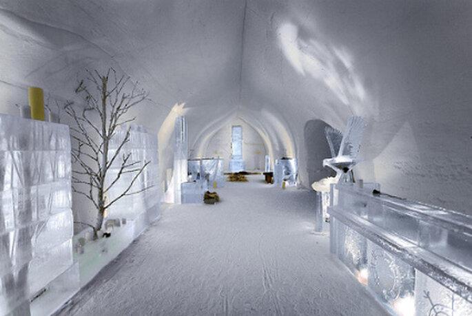 Bodas en el hielo en el Hotel Kakslauttanen de Finlandia