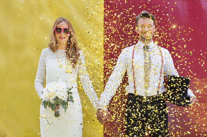 Decoración de boda inspirada en el circo. Fotografía Nancy Ebert