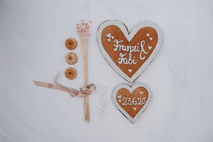 Wiesn Herz als Gastgeschenk Hochzeit