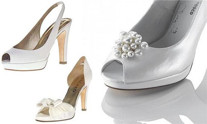 Zapatos de novia de aires vanguardistas y románticos. Foto: Mascaró y Fosco