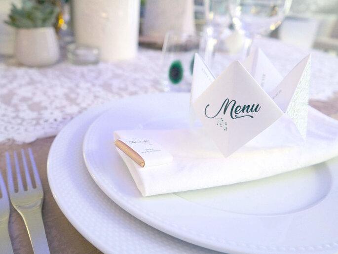 menu de casamento decorativos