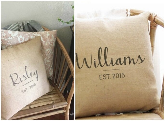 Wedding Date Pillow Cover