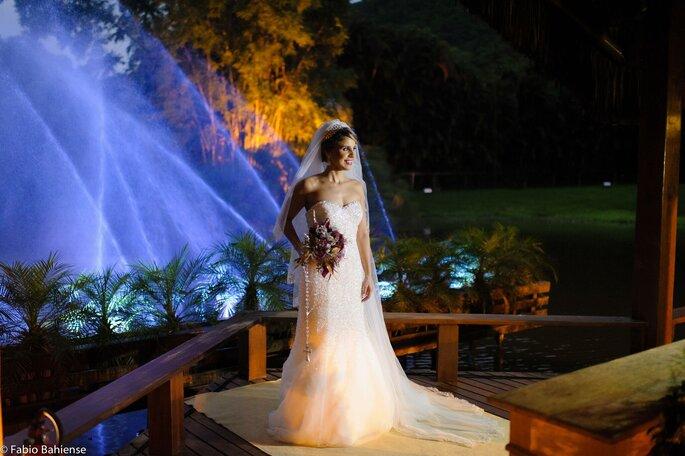 Vestido de noiva: David's Bridal