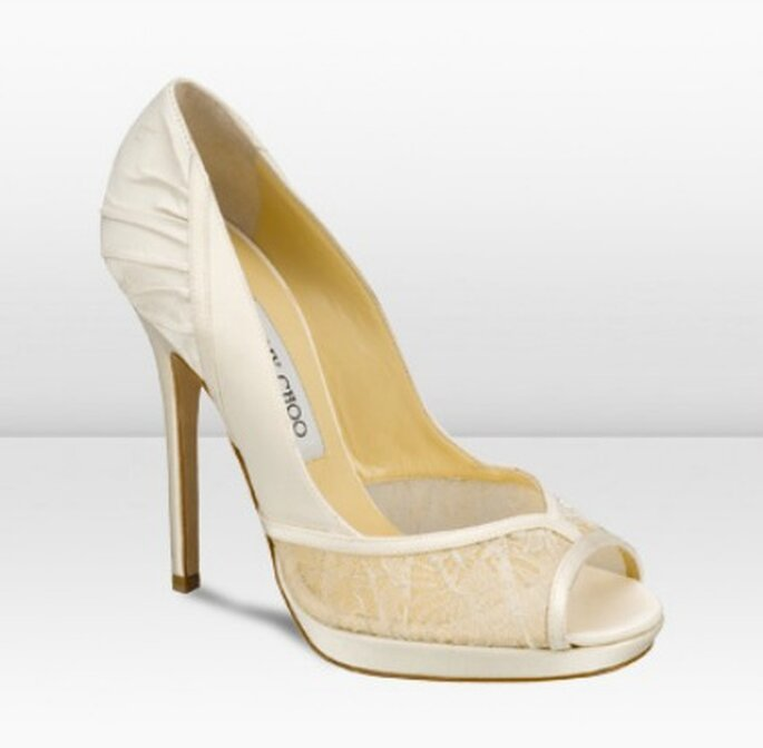 Zapato de novia con encaje - Jimmy Choo