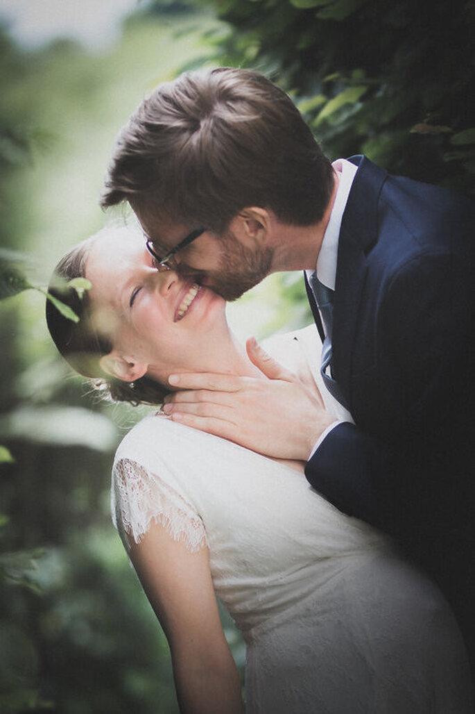 un baiser des mariés