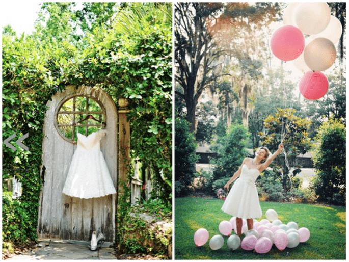 Decoración de boda con globos - Foto Pure Sugar Studios