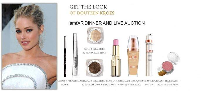 Doutzen Kroes embajadora de L´OREAL maquillada en la gala del MET. Foto Cortesía de L´oreal