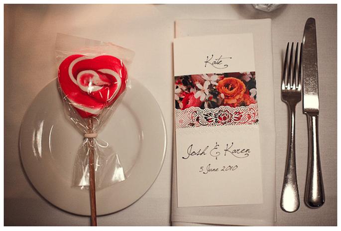 Una boda inspirada en San Valentín con muchos corazones - Foto Ben Adams