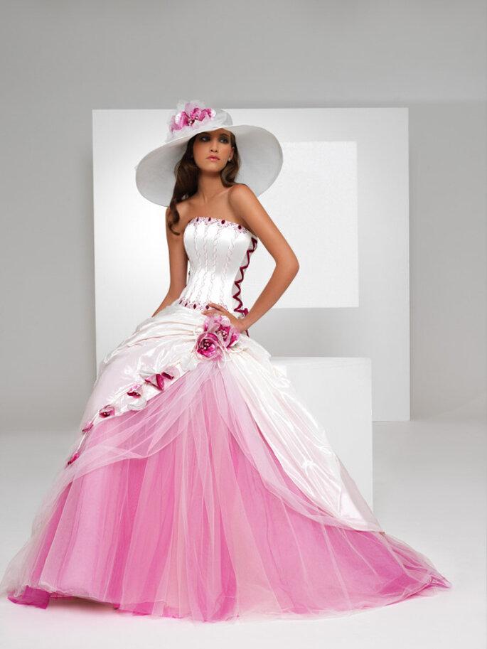 Cappello da sposa con fiori