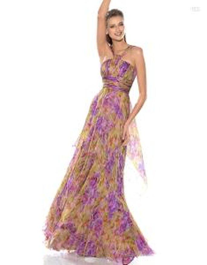 Pronovias Cóctel 2010 - Jaen, vestido largo de talle alto, colores terrosos
