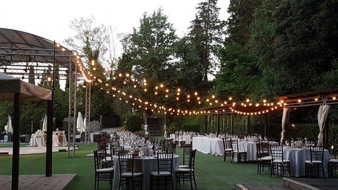 Villa Castiglione - ricevimento all'aperto