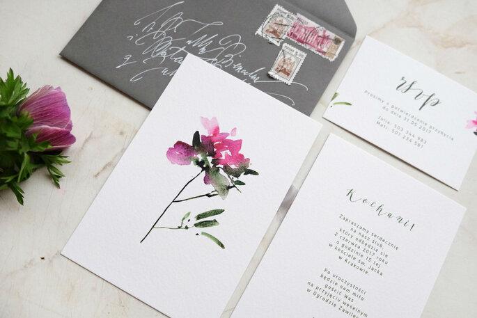 zaproszenie kamien szlachetny Love Prints