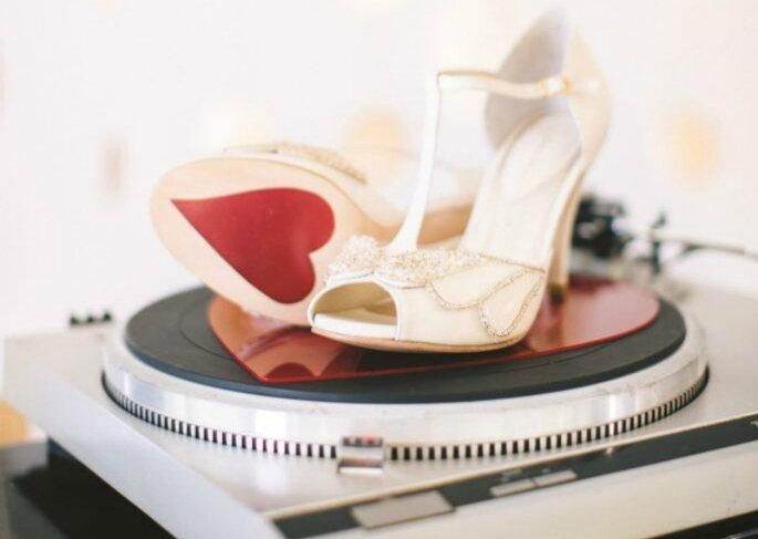 Sapato de noiva vintage