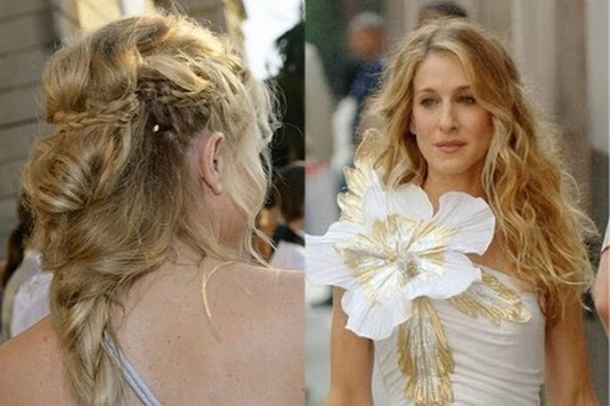 Sarah Jessica Parker y Sienna Miller. Peinados de novia: melena rubia, pelo largo - Fuente: Elle